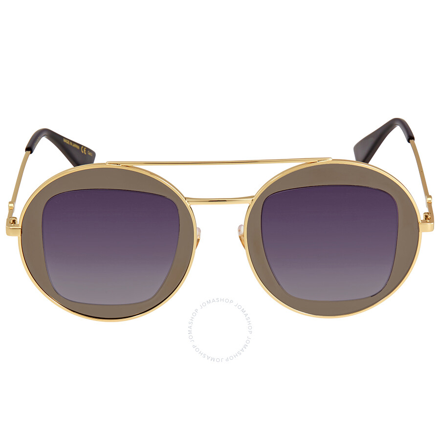 303b9624de5 Gucci Gold Round Sunglasses - Gucci - Sunglasses - Jomashop