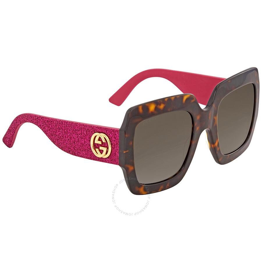 580e9fbfe19 Gucci Gradient Brown Sunglasses GG0102S 003 54 - Gucci - Sunglasses ...