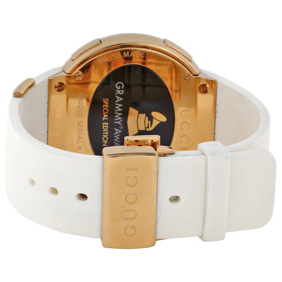 ee2fd0cc446 Gucci Grammy Edition White Rubber Strap Men s Watch YA114216 - I ...