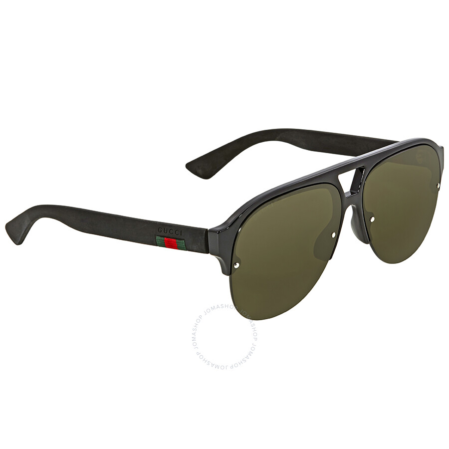 2a8afc22407 Gucci Green Aviator Men s Sunglasses GG0170S 001 59 - Gucci ...