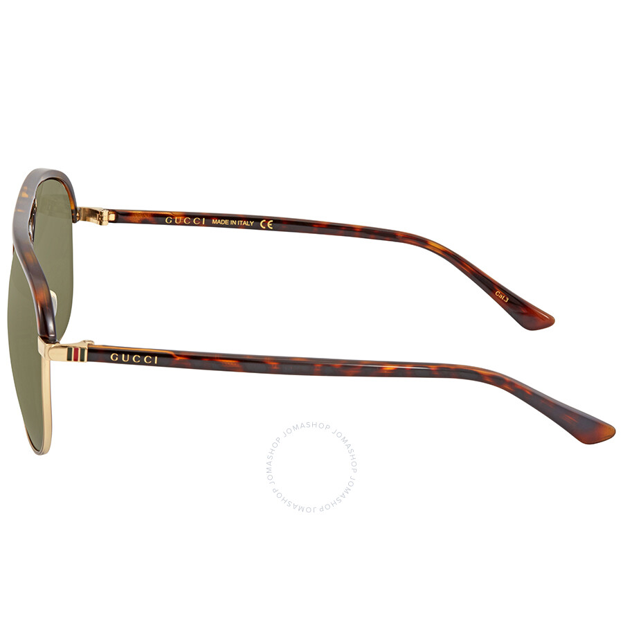5789ee392c9fd Gucci Green Aviator Sunglasses GG0292S 003 60 - Gucci - Sunglasses ...