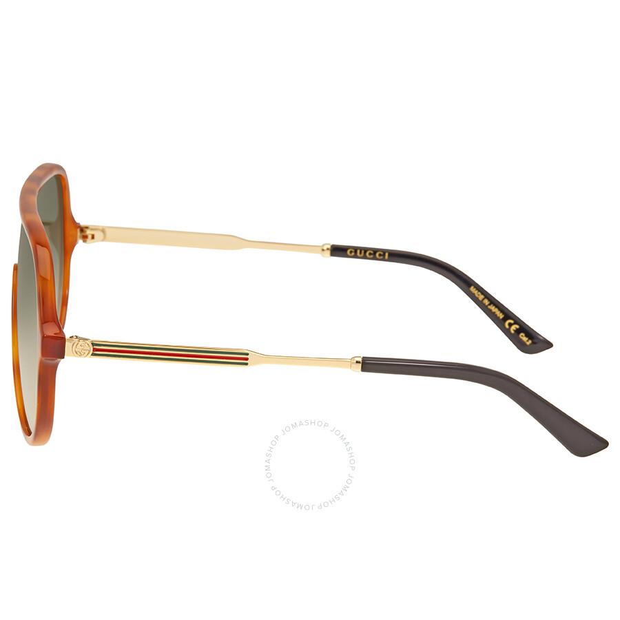 743894ae546 Gucci Green Gradient Aviator Sunglasses GG0199S 004 99 - Gucci ...