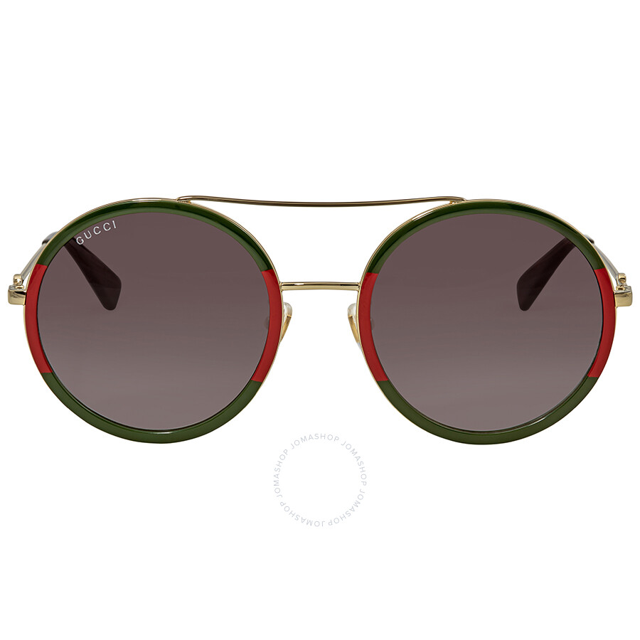 80a35e1b1ae Gucci Green Gradient Round Sunglasses GG0061S-003 56 - Gucci ...