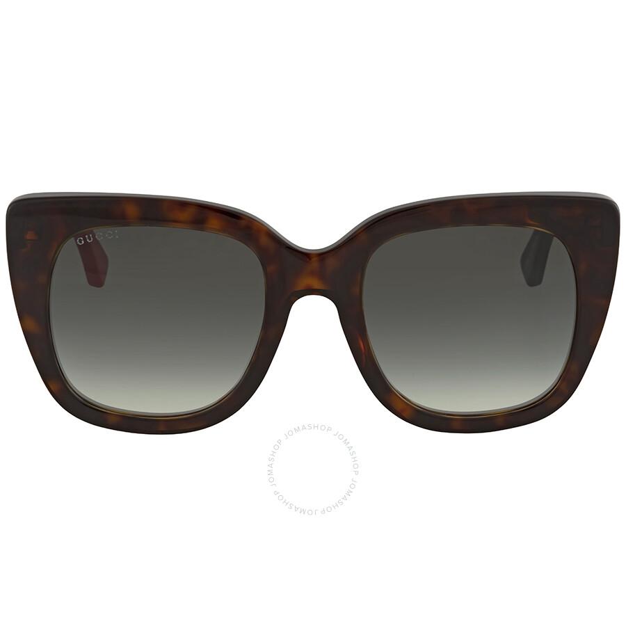 7f05c0f2be5e3 Gucci Green Gradient Square Ladies Sunglasses GG0163S 004 51 - Gucci ...