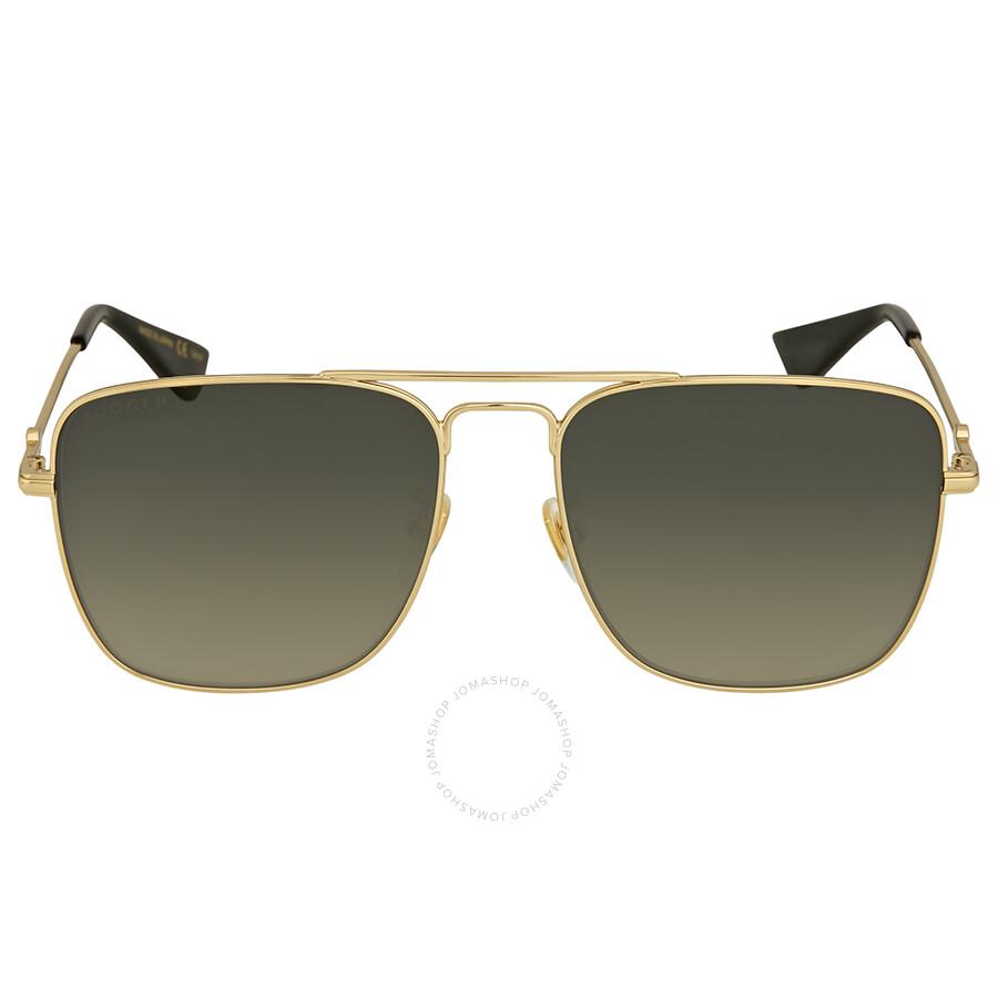 fc5e0cb288 Gucci Green Gradient Square Sunglasses - Gucci - Sunglasses - Jomashop