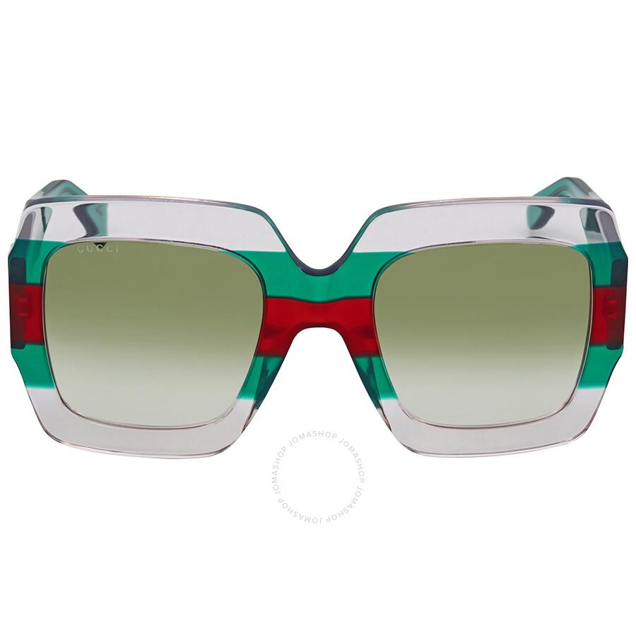 f71951f8d4a Gucci Green Gradient Square Sunglasses GG0178S 001 54 - Gucci ...