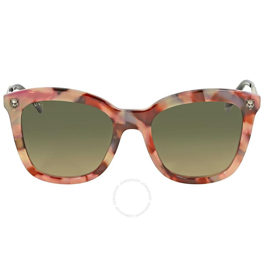 39d064a6243 Gucci Green Gradient Square Sunglasses GG0217S 005 Item No. GG0217S 005 52