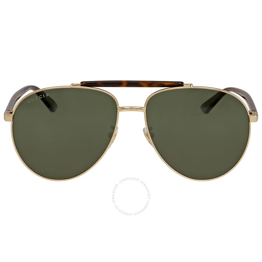 d9cec48df1b Gucci Green Polarized Aviator Sunglasses Gucci Green Polarized Aviator  Sunglasses ...