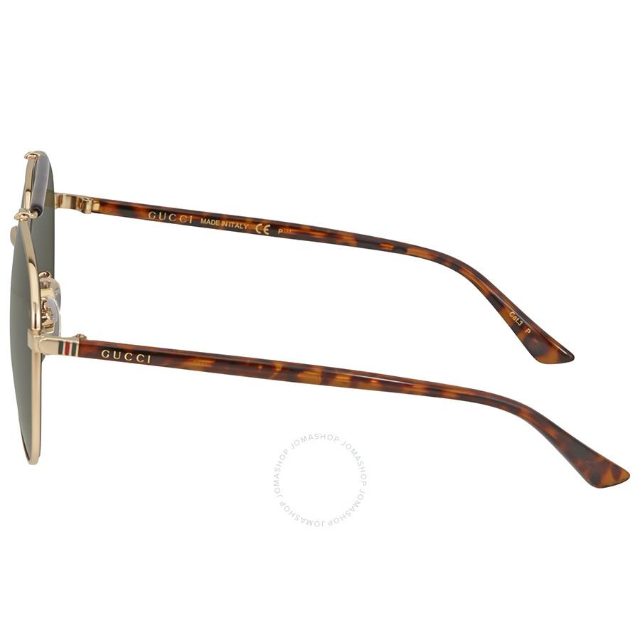 35bd7fa84c3 Gucci Green Polarized Aviator Sunglasses - Gucci - Sunglasses - Jomashop