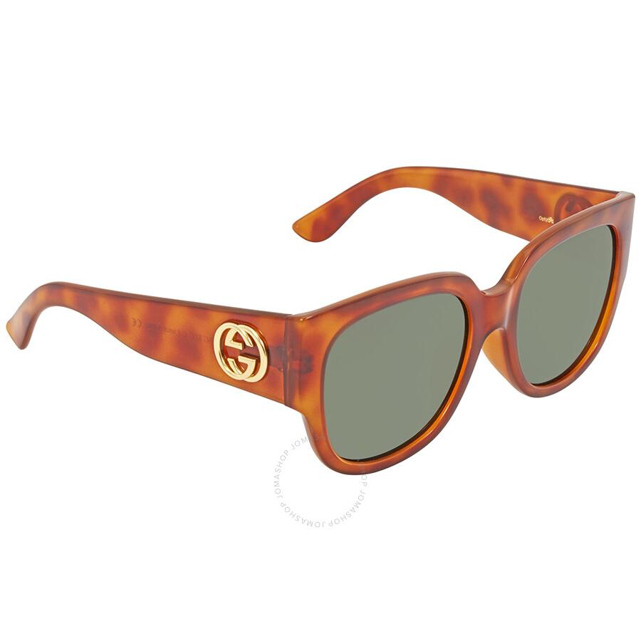9c23a17cca1 Gucci Havana Round Sunglasses GG0142SA 002 55 - Gucci - Sunglasses ...