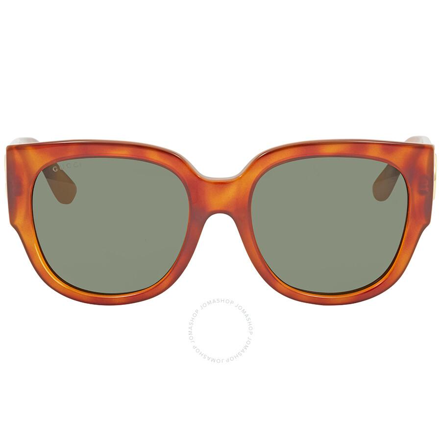 72c6bbf4cc8 Gucci Havana Round Sunglasses GG0142SA 002 55 - Gucci - Sunglasses ...
