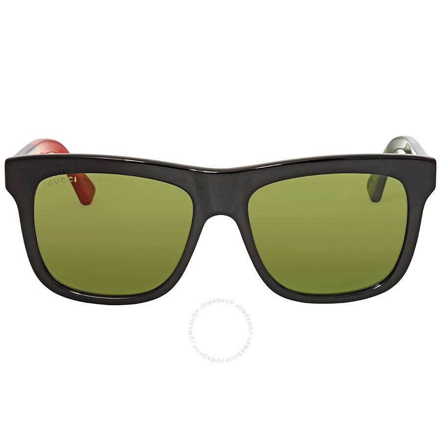 807c7c4e302 Gucci Green Square Sunglasses GG0158S 004 54 - Gucci - Sunglasses ...