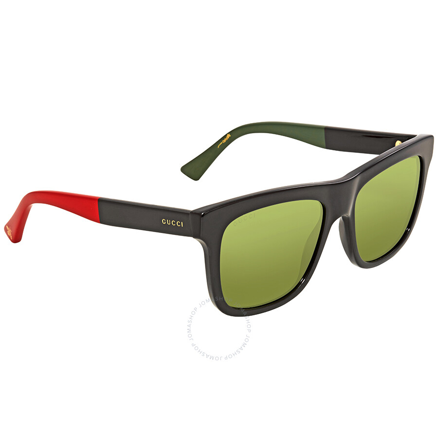 1c2f66ae2df67 Gucci Green Square Sunglasses GG0158S 004 54 - Gucci - Sunglasses ...