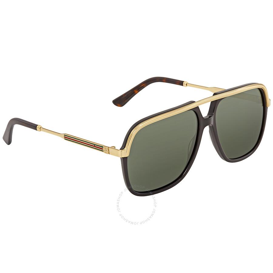 a00b1441fc8 Gucci Green Square Sunglasses GG0200S 001 57 - Gucci - Sunglasses ...