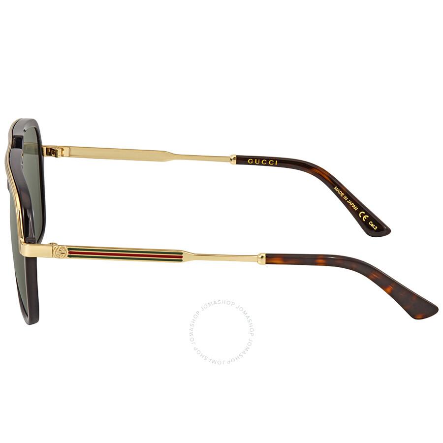 499d052ca18 Gucci Green Square Sunglasses GG0200S 001 57 - Gucci - Sunglasses ...