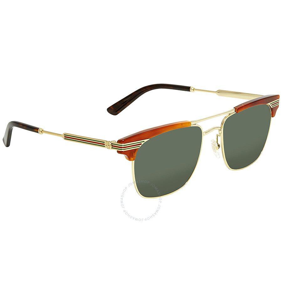 16828174118 Gucci Green Square Sunglasses GG0287S-004 52 - Gucci - Sunglasses ...