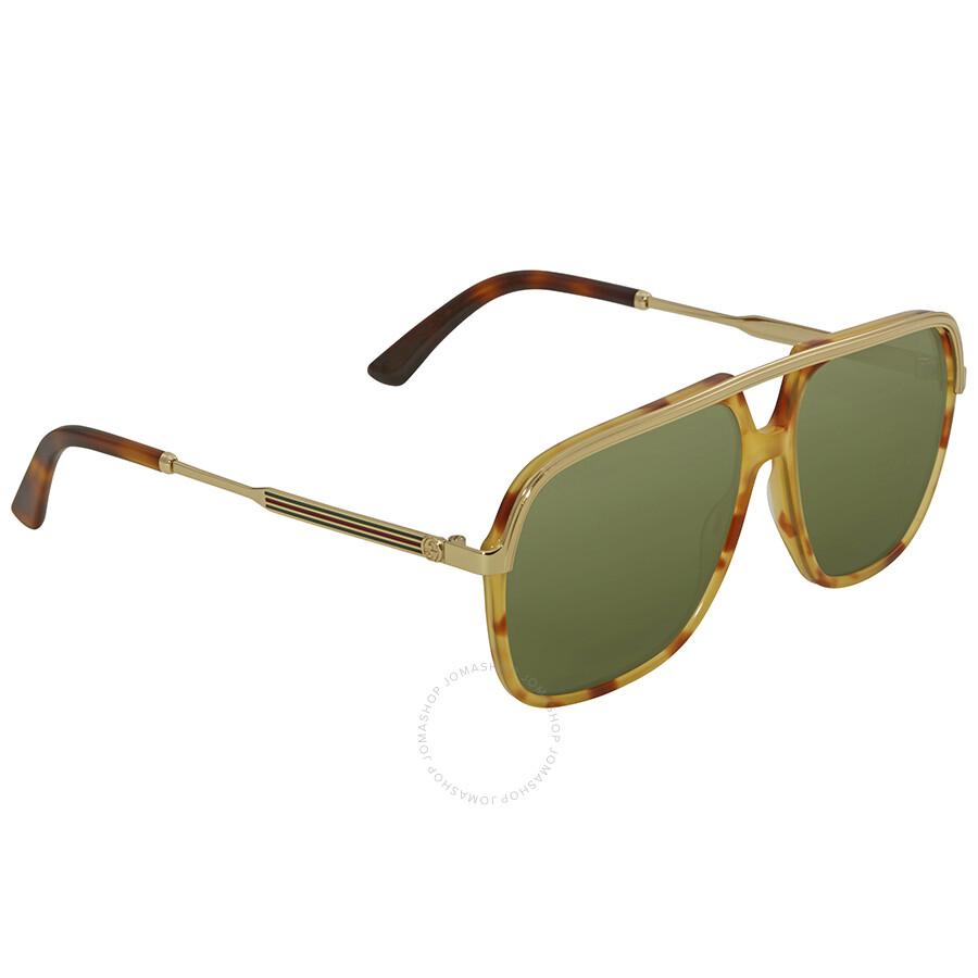 3e553217822 Gucci Green Sunglasses GG0200S 003 57 - Gucci - Sunglasses - Jomashop