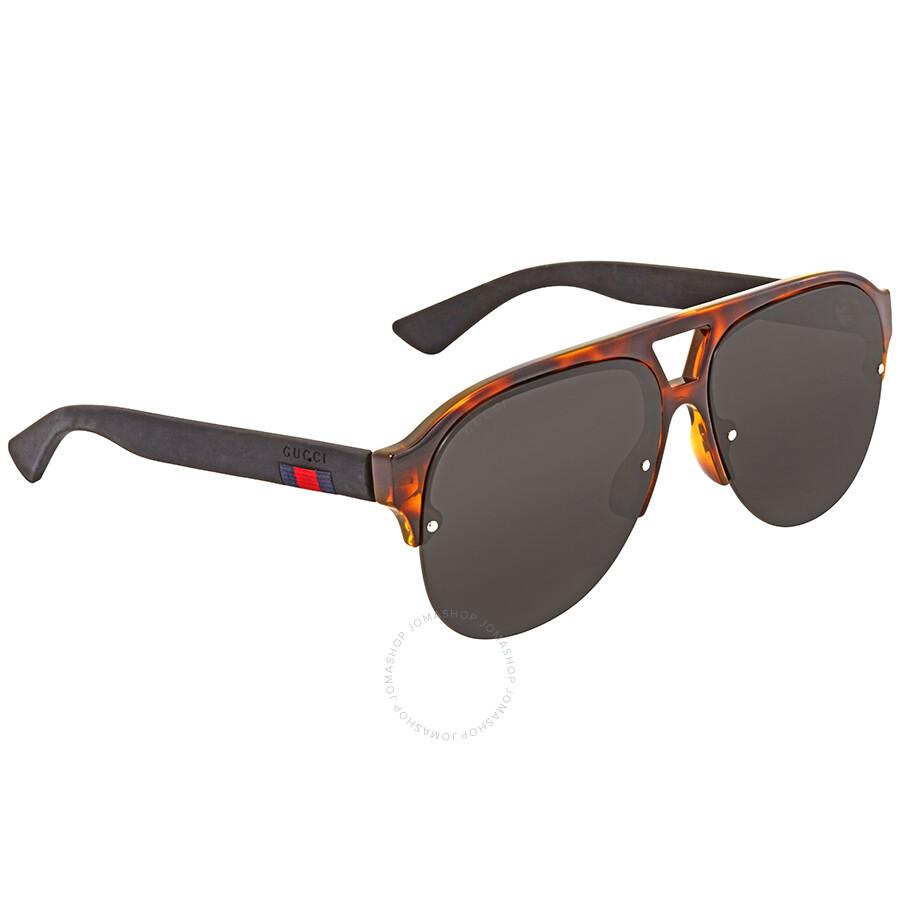 518e2c712e Gucci Grey Aviator Men s Sunglasses GG0170S 003 59 - Gucci ...