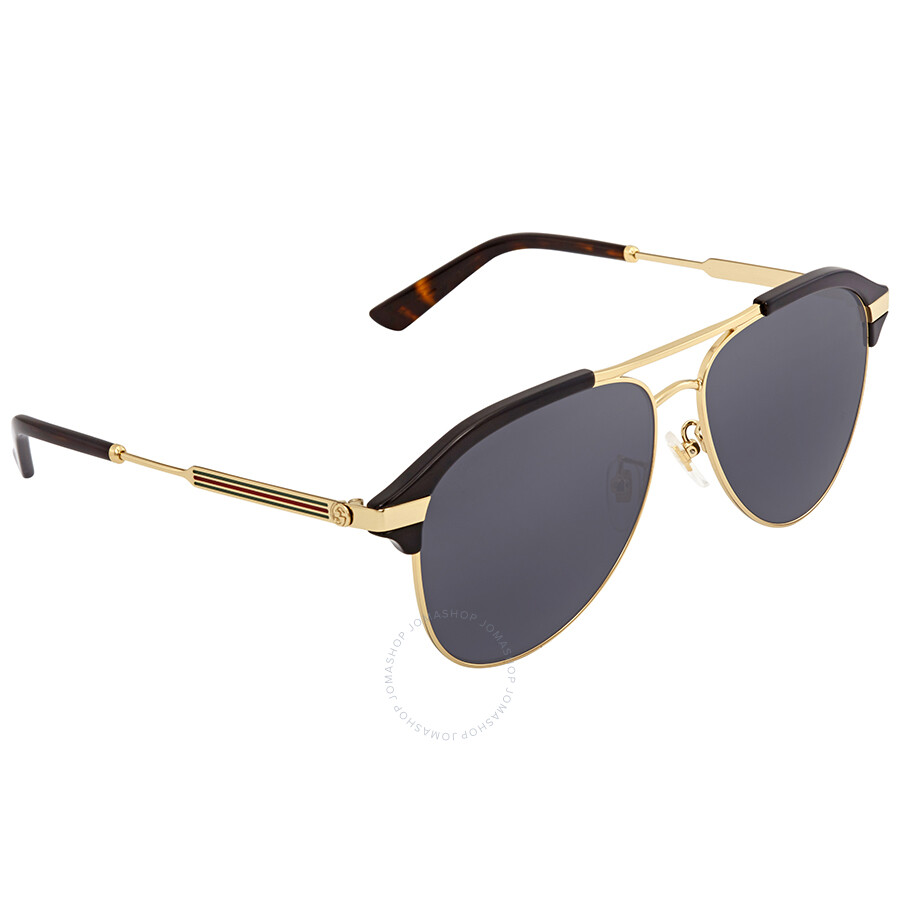 1f1ffd7bd97 Gucci Grey Aviator Sunglasses GG0288SA 001 60 - Gucci - Sunglasses ...