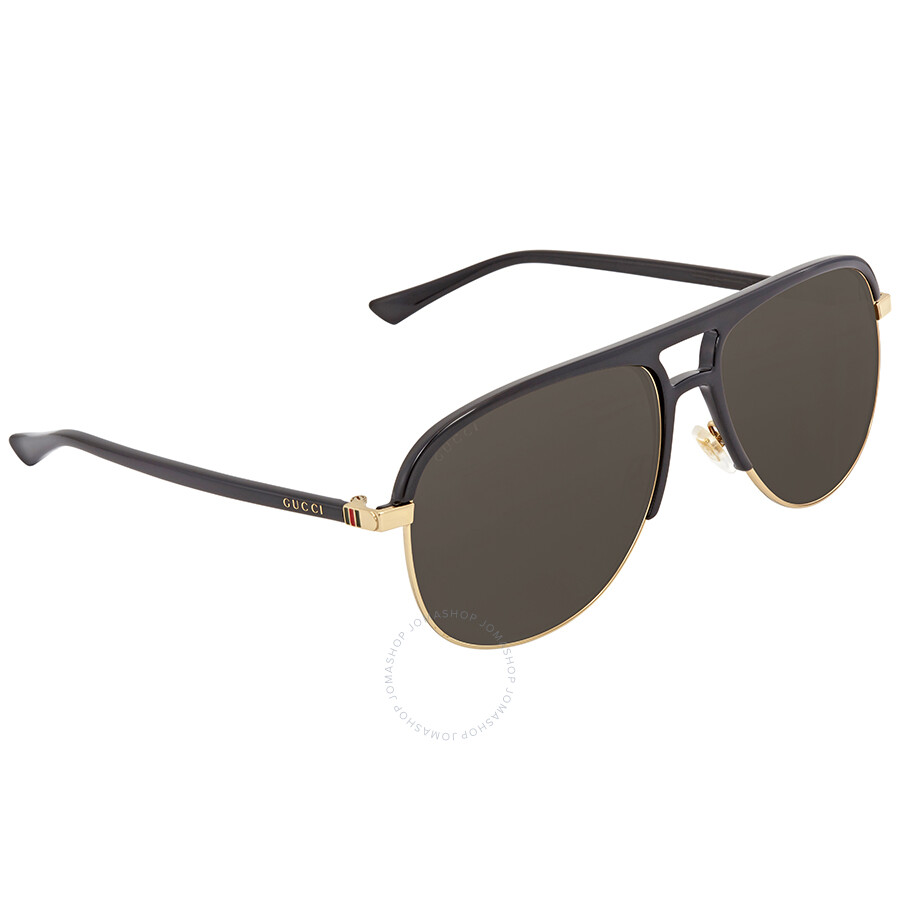 4b758bf6e33 Gucci Grey Aviator Sunglasses GG0292S 001 60 - Gucci - Sunglasses ...