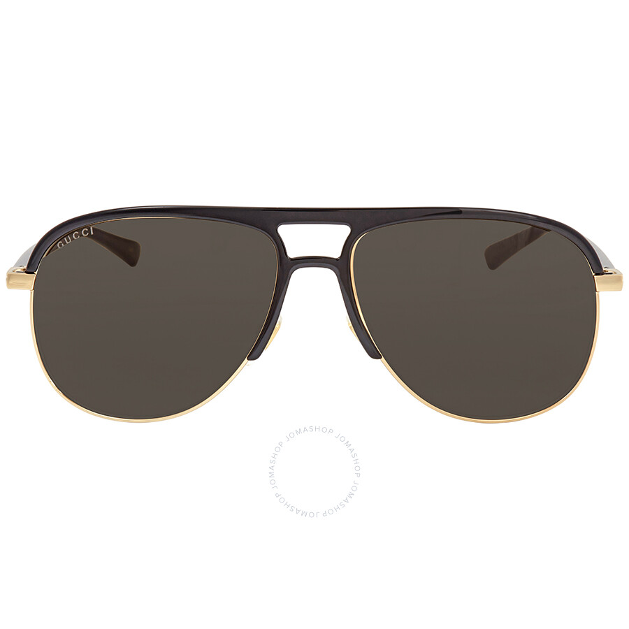 99aac24fcb4 Gucci Grey Aviator Sunglasses GG0292S 001 60 - Gucci - Sunglasses ...