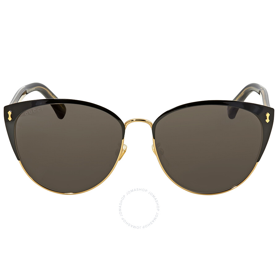 e9d7e1d00cfc Gucci Grey Cat Eye Sunglasses GG0197SK 001 58 - Gucci - Sunglasses ...