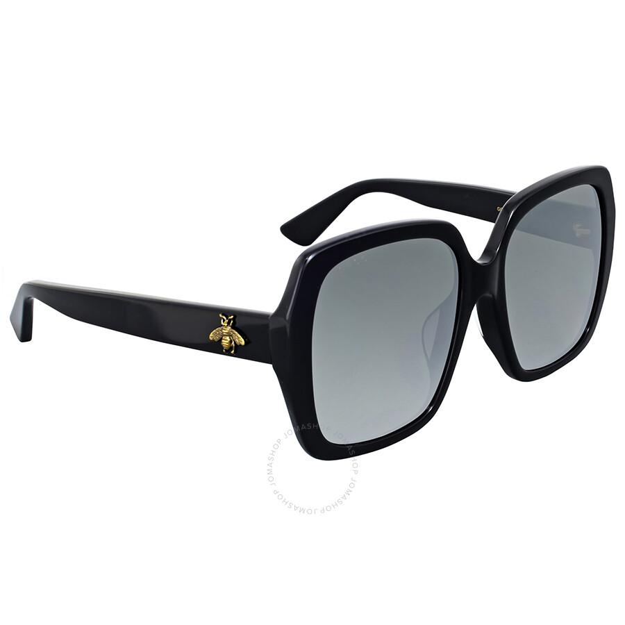 e58b3d2fe8e0 Gucci Grey Flash Square Sunglasses - Gucci - Sunglasses - Jomashop