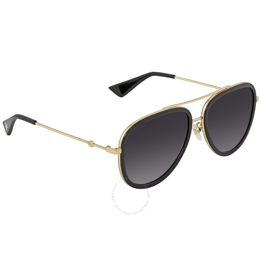 23ad12caad187 Gucci Grey Gradient Aviator Ladies Sunglasses GG0062S 007 57 - Gucci ...