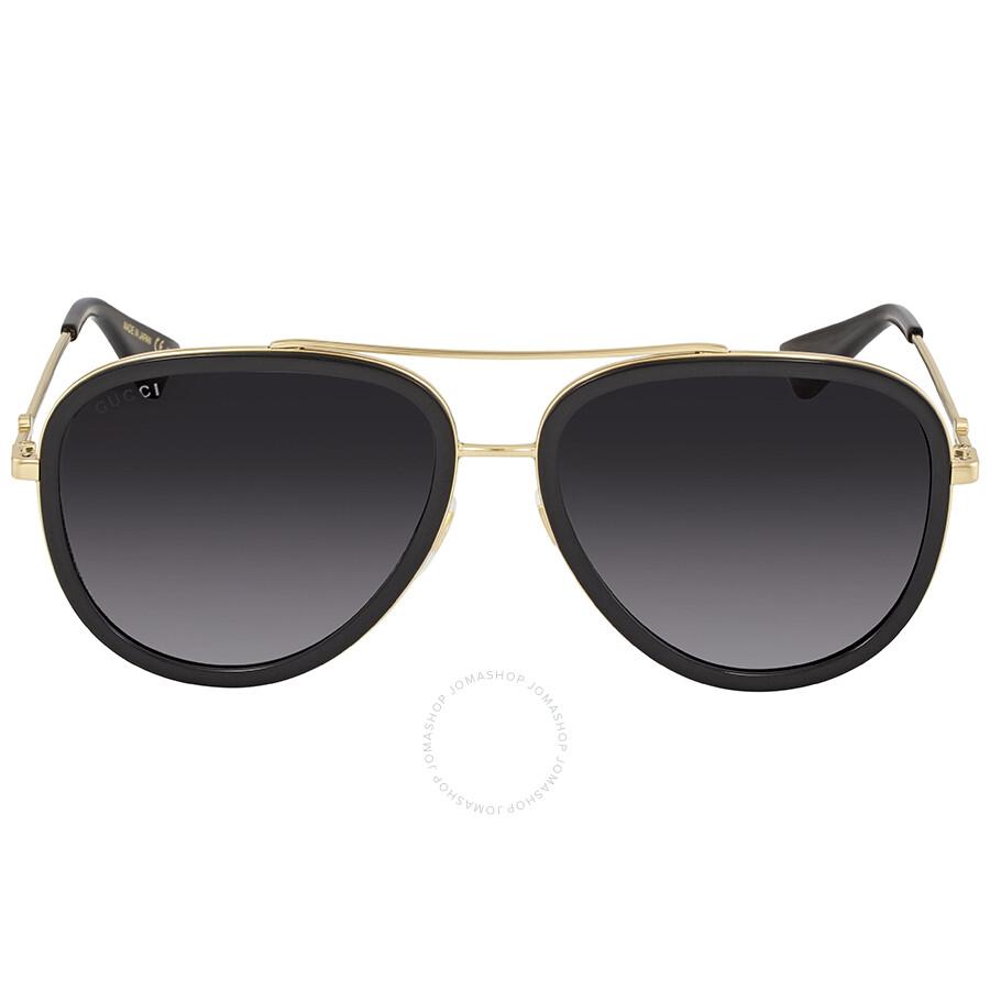 f23a4ed7a4a Gucci Grey Gradient Aviator Ladies Sunglasses GG0062S 007 57 - Gucci ...