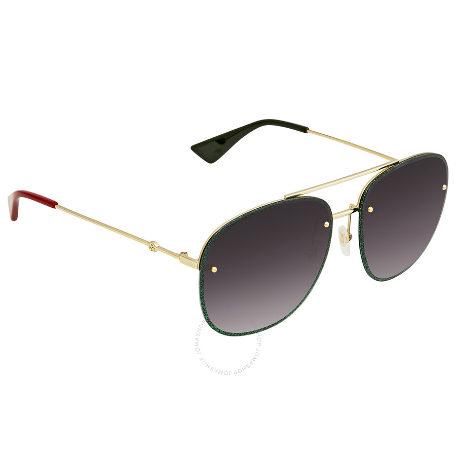 b38fdd0bbae Gucci Grey Gradient Aviator Ladies Sunglasses GG0227S 001 62 - Gucci ...