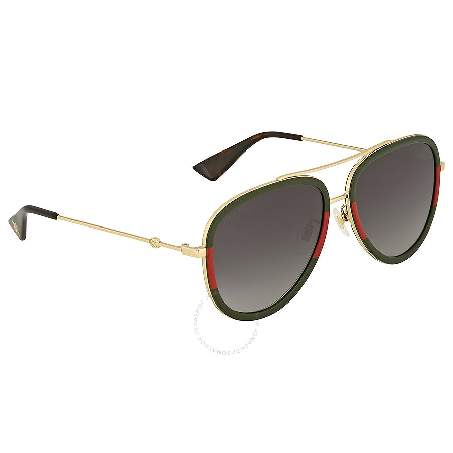 6f6c71ef97565 Gucci Grey Gradient Aviator Sunglasses - Gucci - Sunglasses - Jomashop