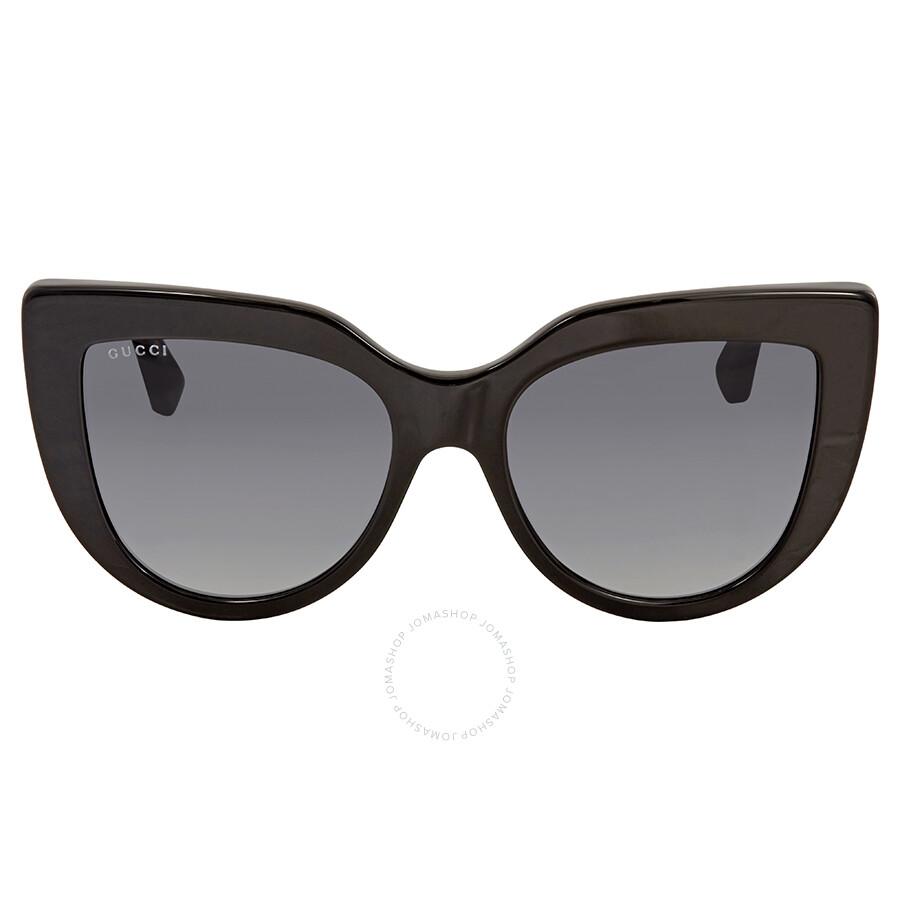 94872e5fae2b Gucci Grey Gradient Cat Eye Sunglasses GG0164S 001 53 - Gucci ...