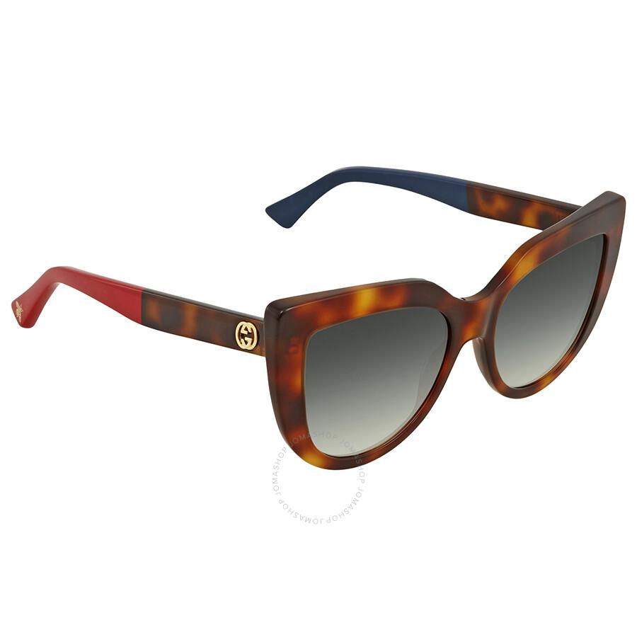 2b9dbf056c61 Gucci Grey Gradient Cat Eye Sunglasses GG0164S 004 53 - Gucci ...