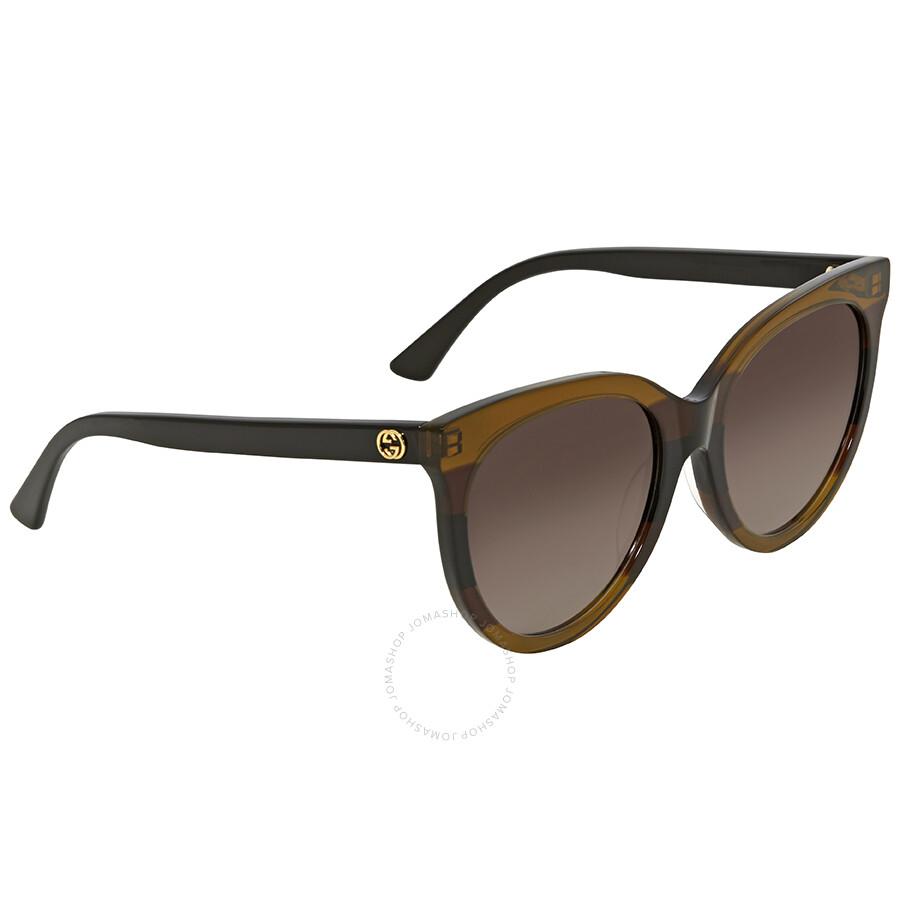 432f14ae539 Gucci Grey Gradient Cat Eye Sunglasses GG0179SA 003 55 - Gucci ...
