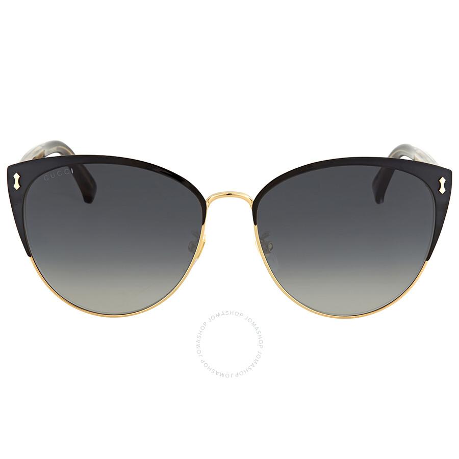 1d910568592 Gucci Grey Gradient Cat Eye Sunglasses GG0197SK 002 58 - Gucci ...