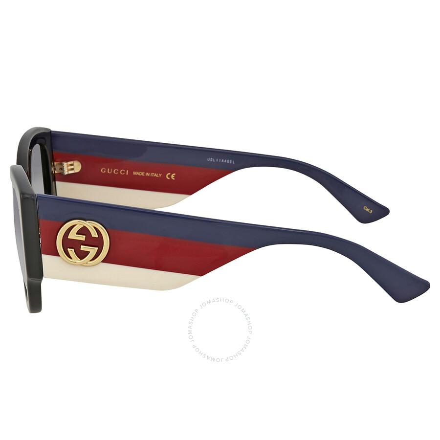 899a66d864f Gucci Grey Gradient Cat Eye Sunglasses GG0276S-001 53 - Gucci ...