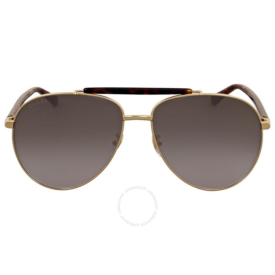af83d1e0c0 Gucci Grey Gradient Metal Aviator Sunglasses Gucci Grey Gradient Metal  Aviator Sunglasses ...