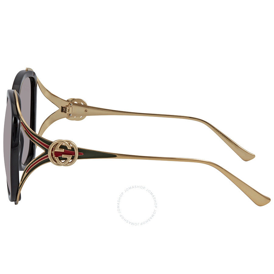 2a3225adab1b3 Gucci Grey Gradient Oval Sunglasses GG0226S 001 56 - Gucci ...