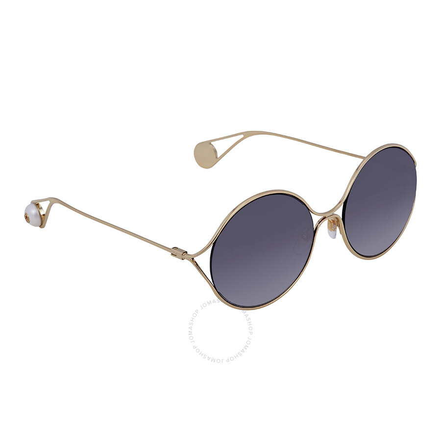 42e5b655951 Gucci Grey Gradient Round Ladies Sunglasses GG0253S 001 58 - Gucci ...
