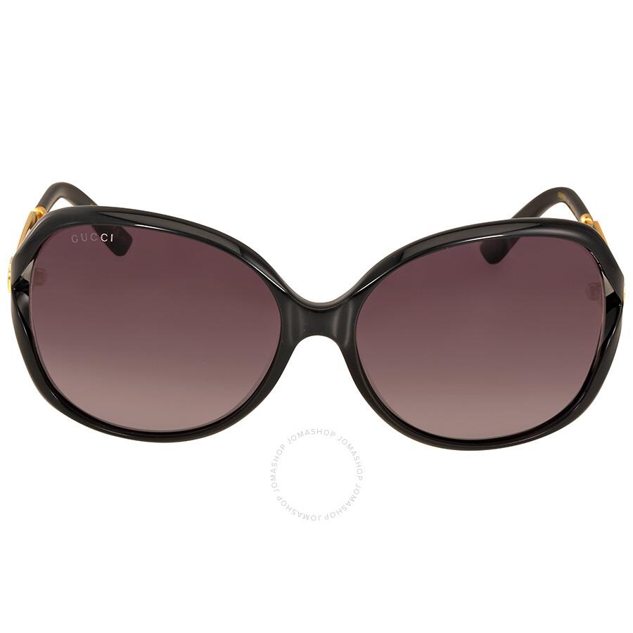 ad7a3492089 Gucci Grey Gradient Round Sunglasses - Gucci - Sunglasses - Jomashop