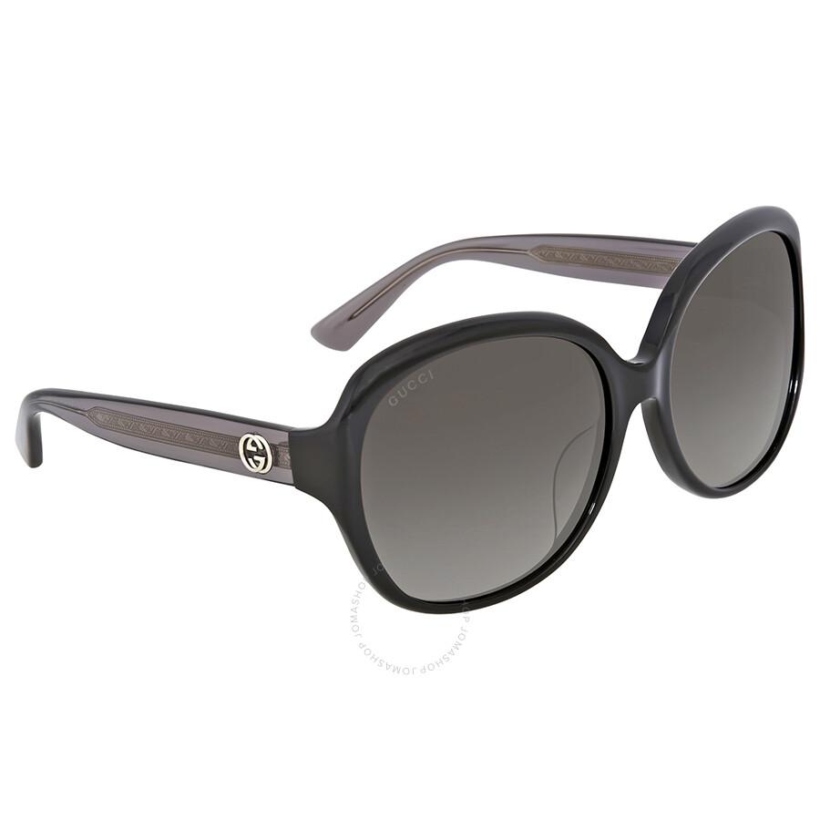 52492d3028f Gucci Grey Gradient Round Sunglasses - Gucci - Sunglasses - Jomashop