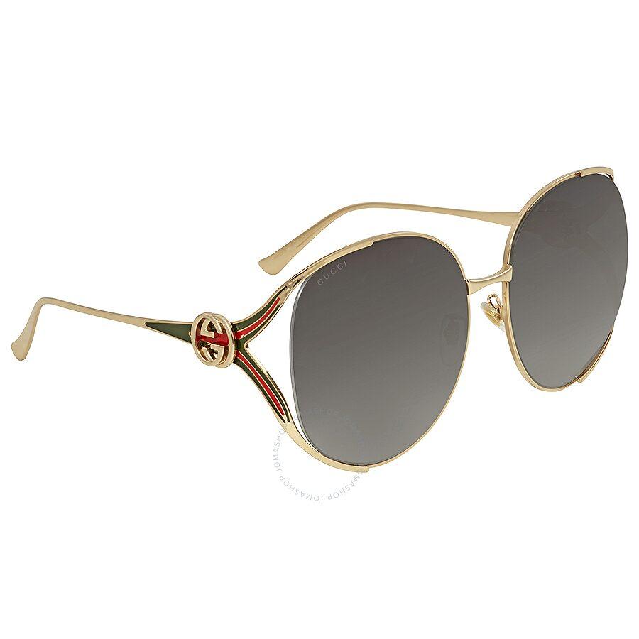 e3f1b741fd Gucci Grey Gradient Round Sunglasses GG0225S 001 63 - Gucci ...