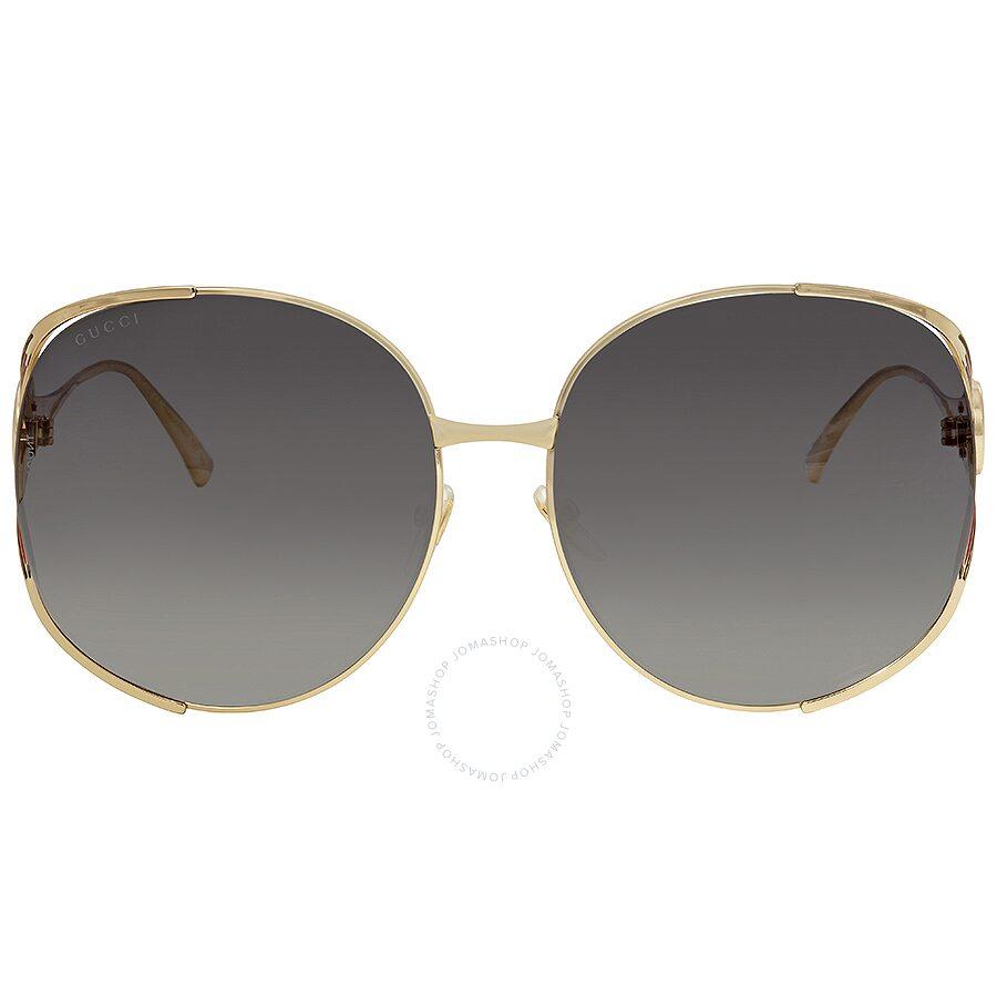 d0eb95188d1 Gucci Grey Gradient Round Sunglasses GG0225S 001 63 - Gucci ...
