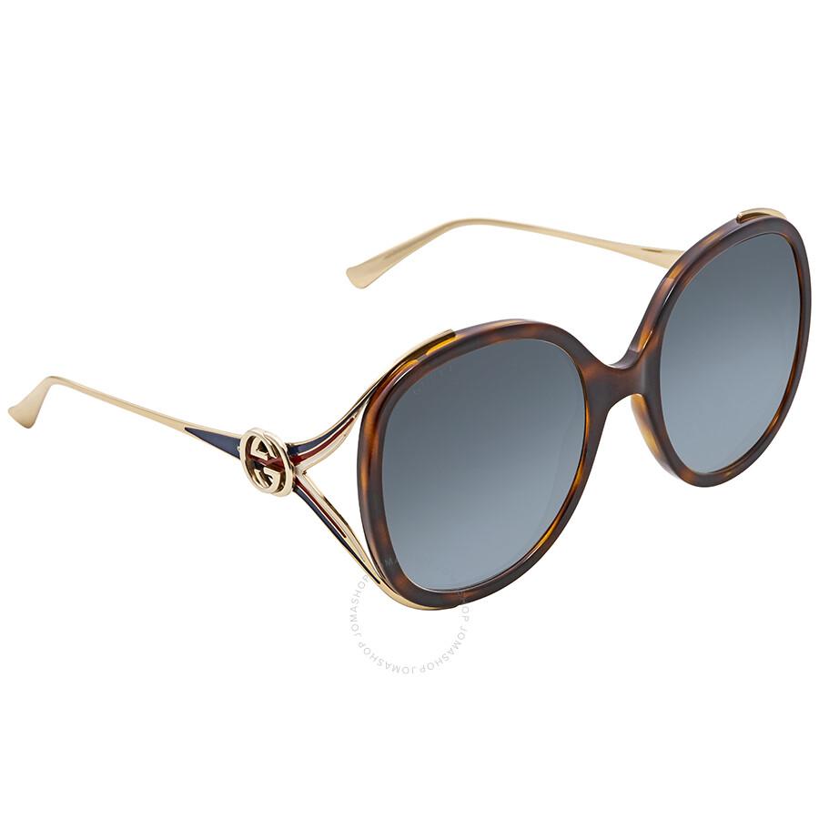 edcfd74d0a Gucci Grey Gradient Round Sunglasses GG0226S 004 56 - Gucci ...
