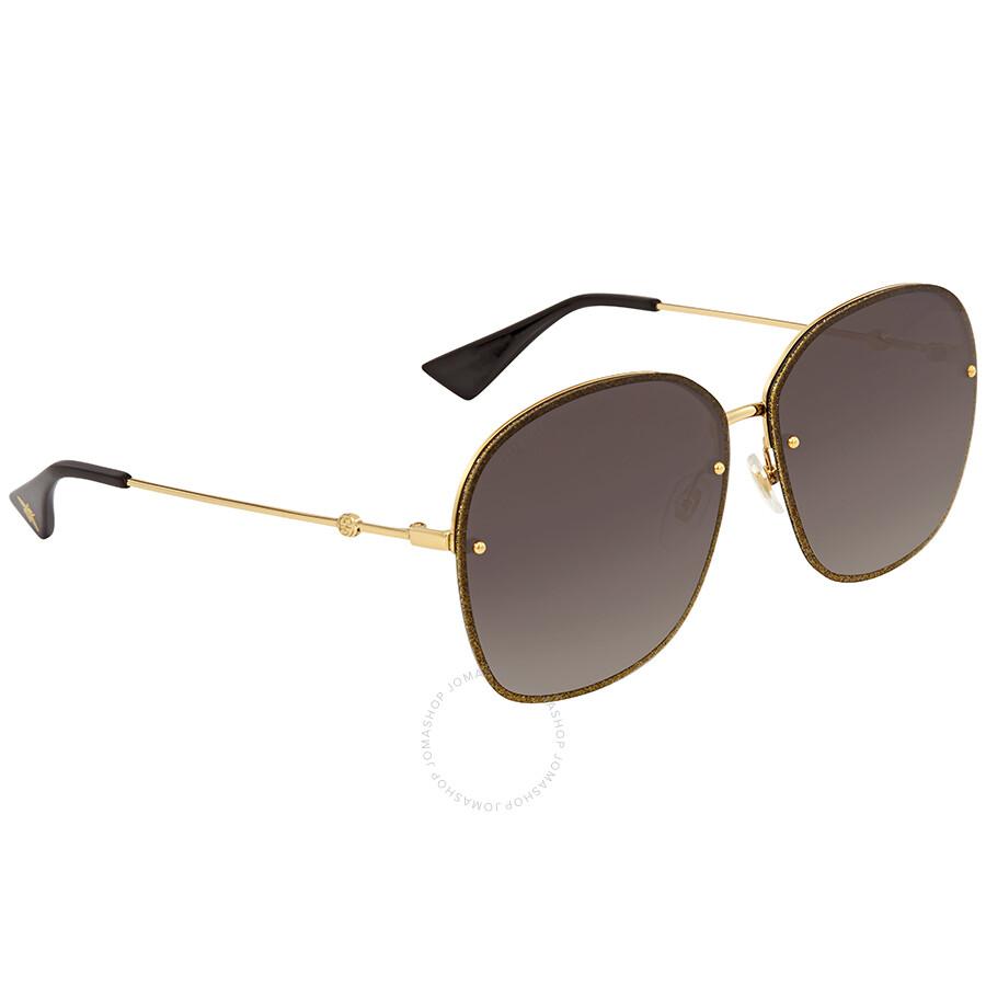 6d94d0e99a7 Gucci Grey Gradient Round Sunglasses GG0228S 002 63 - Gucci ...