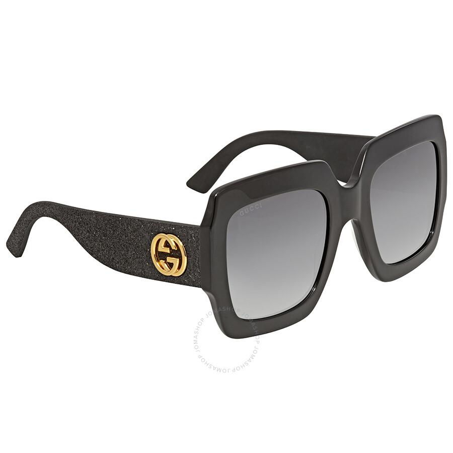 e39aaee7a824 Gucci Grey Gradient Square Ladies Sunglasses GG0102S 001 Item No. GG0102S  001 54