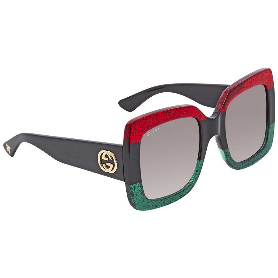 0edc2444f14 Gucci Grey Gradient Square Sunglasses GG0083S 001 55 - Gucci ...