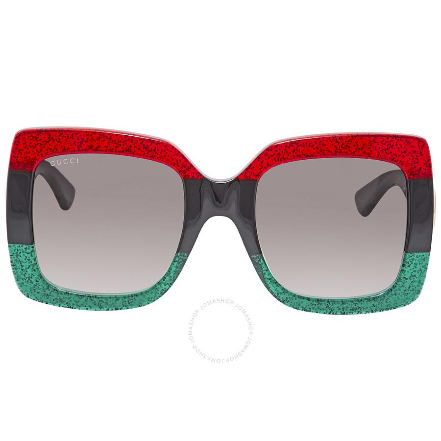 0828a0a5dca Gucci Grey Gradient Square Sunglasses GG0083S 001 55 - Gucci ...