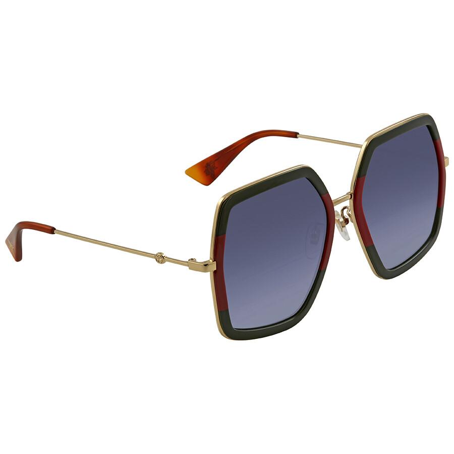 83725c72069 Gucci Grey Gradient Square Sunglasses GG0106S 007 56 - Gucci ...