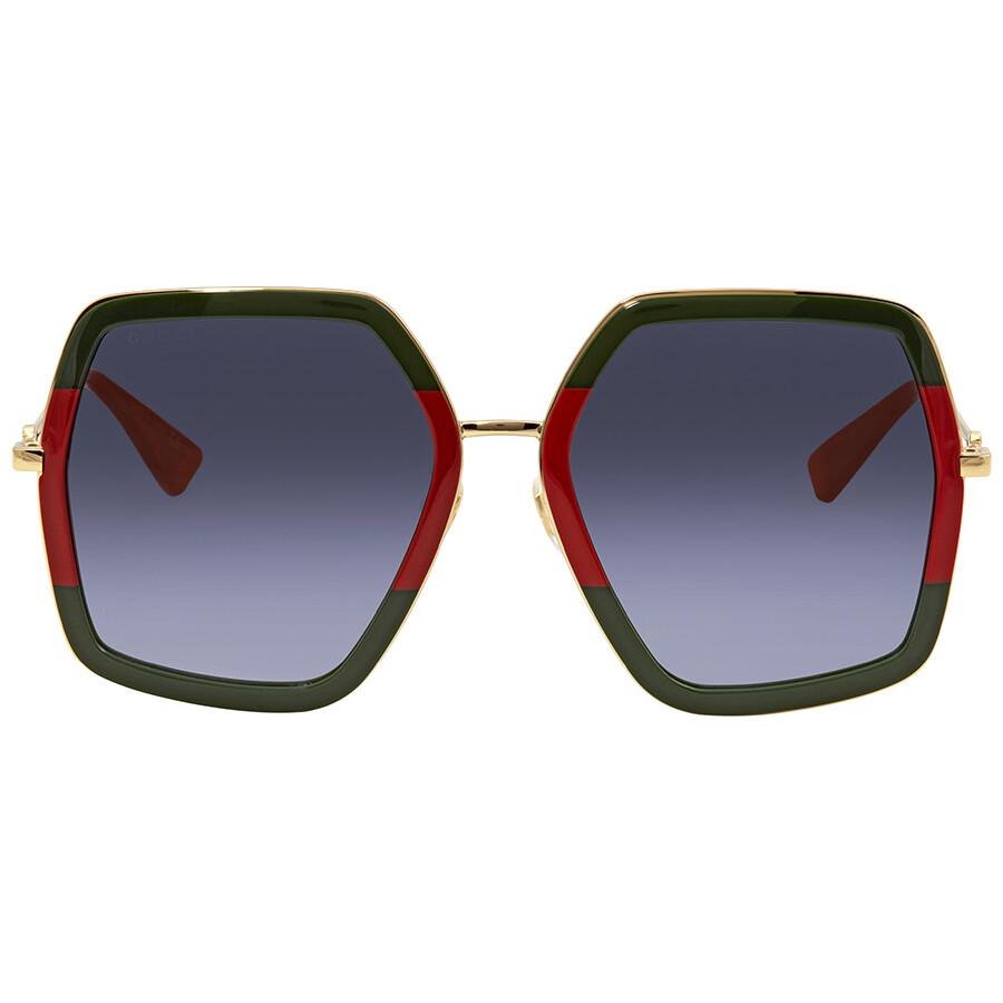 05a477eea Gucci Grey Gradient Square Sunglasses GG0106S 007 56 - Gucci ...